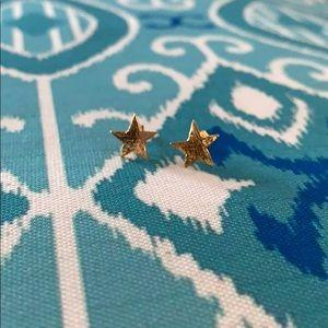 Gorjana star stud earring, gold